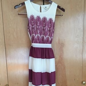 YA Los Angeles Dress - Pink & White
